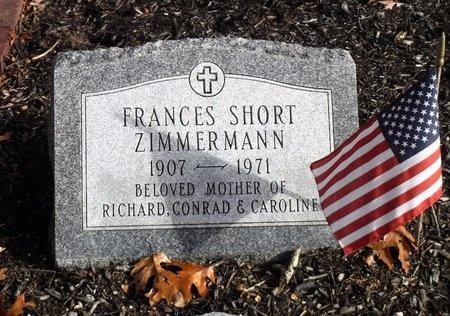 SHORT ZIMMERMANN, FRANCES - Suffolk County, New York | FRANCES SHORT ZIMMERMANN - New York Gravestone Photos