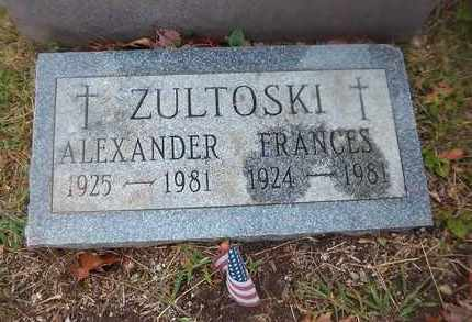 ZULTOSKI, FRANCES - Suffolk County, New York | FRANCES ZULTOSKI - New York Gravestone Photos