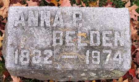 BELDEN, ANNA P. - Tioga County, New York | ANNA P. BELDEN - New York Gravestone Photos