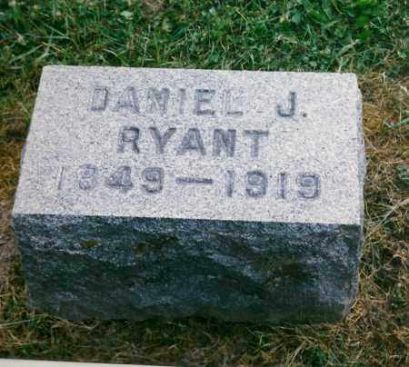 RYANT, DANIEL J. - Tioga County, New York   DANIEL J. RYANT - New York Gravestone Photos