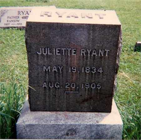 RYANT, JULIETTE - Tioga County, New York | JULIETTE RYANT - New York Gravestone Photos