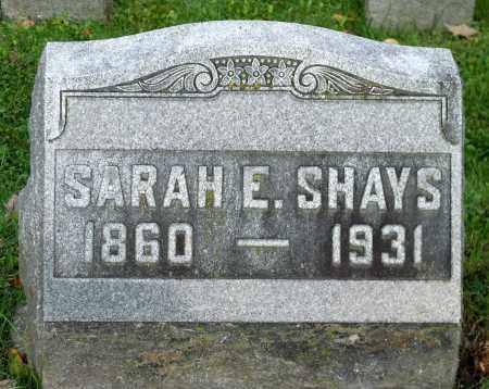 SHAYS, SARAH E. - Tioga County, New York | SARAH E. SHAYS - New York Gravestone Photos
