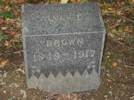 BROWN, ALVAH - Tompkins County, New York   ALVAH BROWN - New York Gravestone Photos