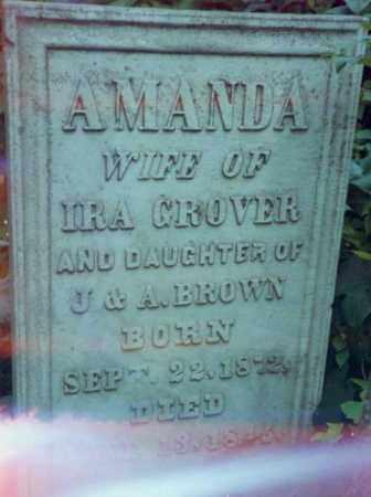 BROWN, AMANDA - Tompkins County, New York | AMANDA BROWN - New York Gravestone Photos