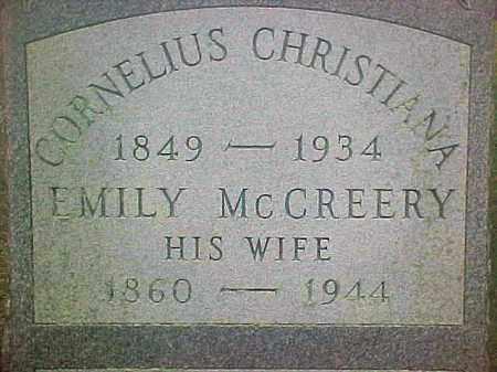 CHRISTIANA, CORNELIUS - Ulster County, New York | CORNELIUS CHRISTIANA - New York Gravestone Photos