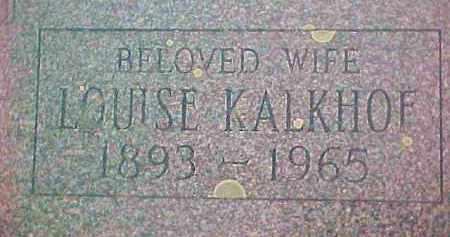 KALKHOF, LOUISE - Ulster County, New York | LOUISE KALKHOF - New York Gravestone Photos