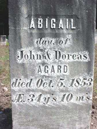 AGARD, ABIGAIL - Warren County, New York | ABIGAIL AGARD - New York Gravestone Photos