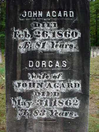 AGARD, DORCAS - Warren County, New York | DORCAS AGARD - New York Gravestone Photos