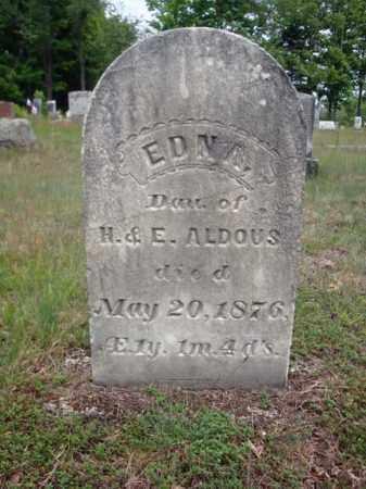 ALDOUS, EDNA - Warren County, New York | EDNA ALDOUS - New York Gravestone Photos