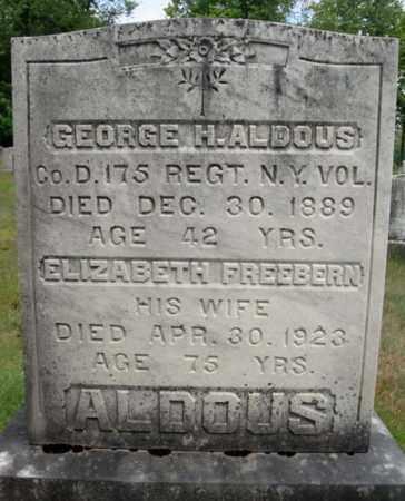 ALDOUS (CW), GEORGE H - Warren County, New York | GEORGE H ALDOUS (CW) - New York Gravestone Photos