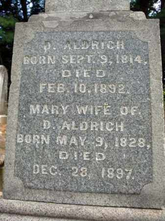 ALDRICH, DAVID BACHUS - Warren County, New York | DAVID BACHUS ALDRICH - New York Gravestone Photos