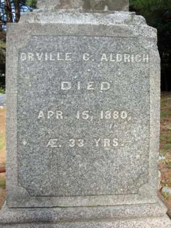 ALDRICH, ORVILLE C - Warren County, New York   ORVILLE C ALDRICH - New York Gravestone Photos