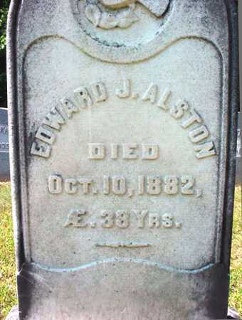 ALSTON, EDWARD J - Warren County, New York | EDWARD J ALSTON - New York Gravestone Photos
