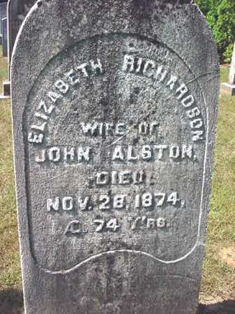ALSTON, ELIZABETH - Warren County, New York | ELIZABETH ALSTON - New York Gravestone Photos