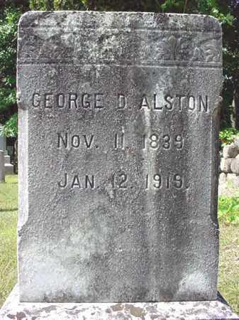 ALSTON, GEORGE D - Warren County, New York | GEORGE D ALSTON - New York Gravestone Photos
