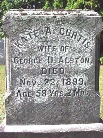 CURTIS ALSTON, KATE A - Warren County, New York | KATE A CURTIS ALSTON - New York Gravestone Photos