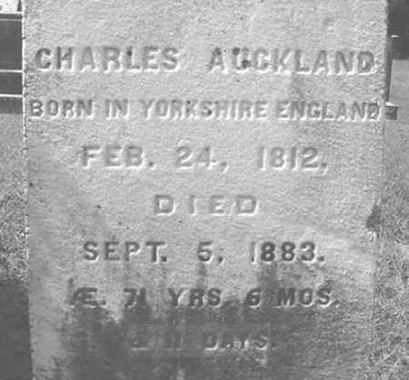 AUCKLAND, CHARLES - Warren County, New York   CHARLES AUCKLAND - New York Gravestone Photos