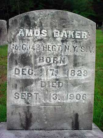 BAKER, AMOS - Warren County, New York | AMOS BAKER - New York Gravestone Photos