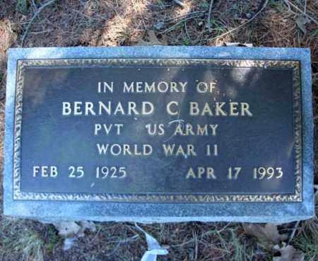 BAKER, BERNARD C - Warren County, New York | BERNARD C BAKER - New York Gravestone Photos