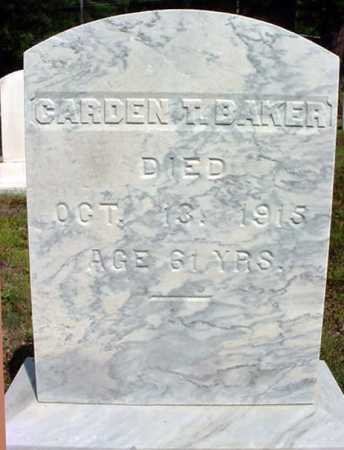 BAKER, CARDEN T - Warren County, New York | CARDEN T BAKER - New York Gravestone Photos