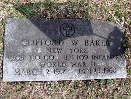 BAKER, CLIFFORD W - Warren County, New York | CLIFFORD W BAKER - New York Gravestone Photos