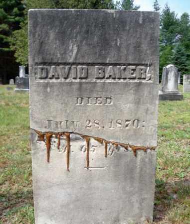 BAKER, DAVID - Warren County, New York | DAVID BAKER - New York Gravestone Photos