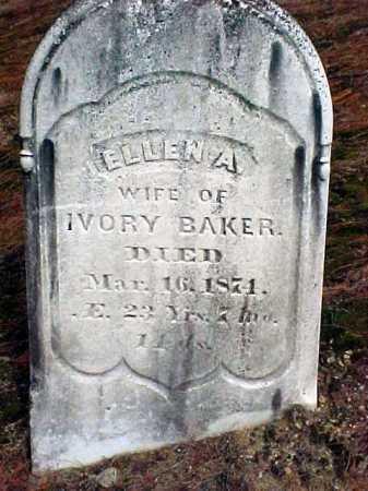 BAKER, ELLEN A - Warren County, New York | ELLEN A BAKER - New York Gravestone Photos