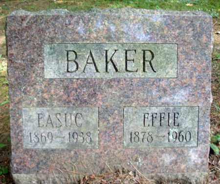 BAKER, EFFIE - Warren County, New York   EFFIE BAKER - New York Gravestone Photos