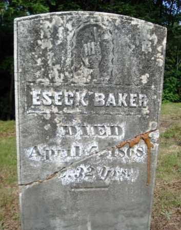 BAKER, ESECK - Warren County, New York | ESECK BAKER - New York Gravestone Photos