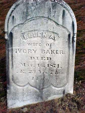 BAKER, ELLEN A - Warren County, New York | ELLEN A BAKER - New York Gravestone Photos