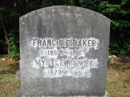 BAKER, MYRTLE - Warren County, New York | MYRTLE BAKER - New York Gravestone Photos