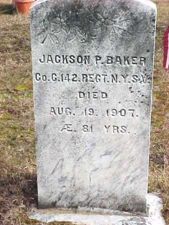 BAKER, JACKSON P - Warren County, New York | JACKSON P BAKER - New York Gravestone Photos