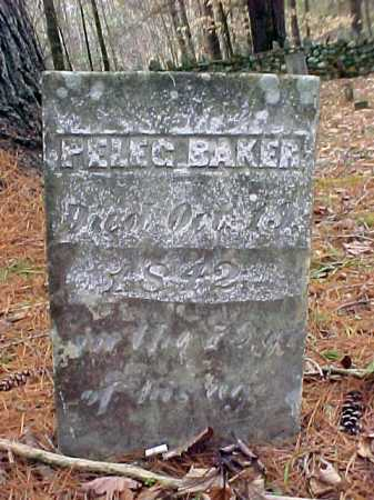 BAKER, PELEG - Warren County, New York | PELEG BAKER - New York Gravestone Photos