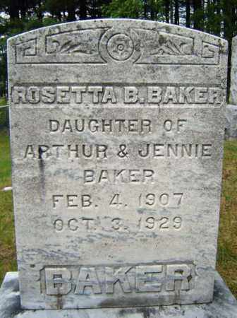 BAKER, ROSETTA B - Warren County, New York | ROSETTA B BAKER - New York Gravestone Photos