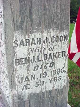 BAKER, SARAH J - Warren County, New York | SARAH J BAKER - New York Gravestone Photos