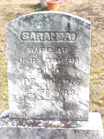 BAKER, SARAH A - Warren County, New York | SARAH A BAKER - New York Gravestone Photos
