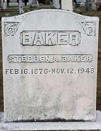 BAKER, STEPHEN A - Warren County, New York | STEPHEN A BAKER - New York Gravestone Photos