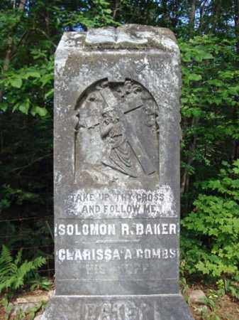 BAKER, SOLOMON R - Warren County, New York | SOLOMON R BAKER - New York Gravestone Photos