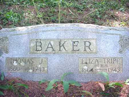 BAKER, ELIZA - Warren County, New York | ELIZA BAKER - New York Gravestone Photos