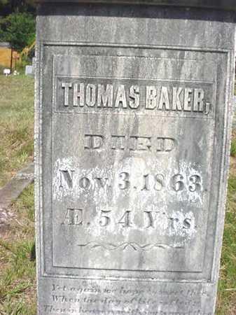 BAKER, THOMAS - Warren County, New York | THOMAS BAKER - New York Gravestone Photos