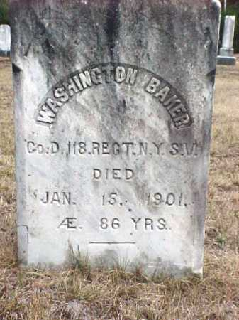 BAKER, WASHINGTON - Warren County, New York | WASHINGTON BAKER - New York Gravestone Photos
