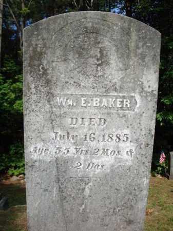 BAKER, WILLIAM E - Warren County, New York   WILLIAM E BAKER - New York Gravestone Photos