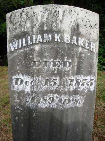 BAKER, WILLIAM K - Warren County, New York | WILLIAM K BAKER - New York Gravestone Photos