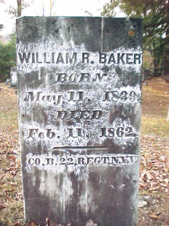 BAKER, WILLIAM R - Warren County, New York | WILLIAM R BAKER - New York Gravestone Photos