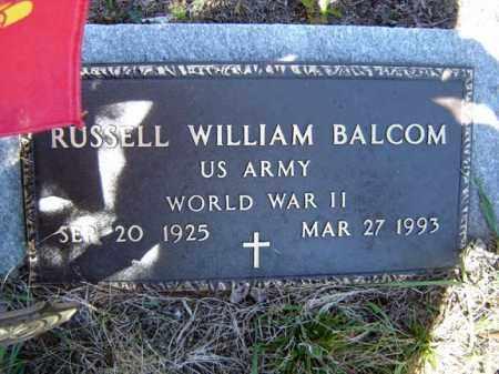 BALCOM (WWII), RUSSELL WILLIAM - Warren County, New York | RUSSELL WILLIAM BALCOM (WWII) - New York Gravestone Photos