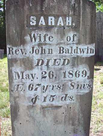BALDWIN, SARAH - Warren County, New York   SARAH BALDWIN - New York Gravestone Photos