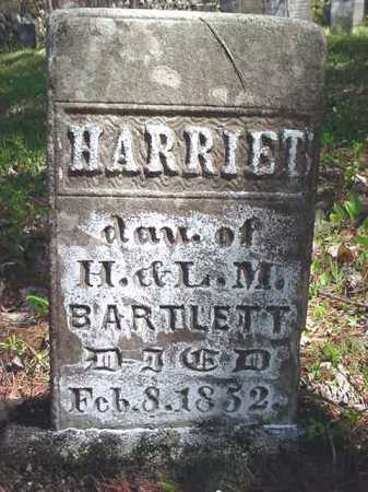 BARTLETT, HARRIET - Warren County, New York | HARRIET BARTLETT - New York Gravestone Photos