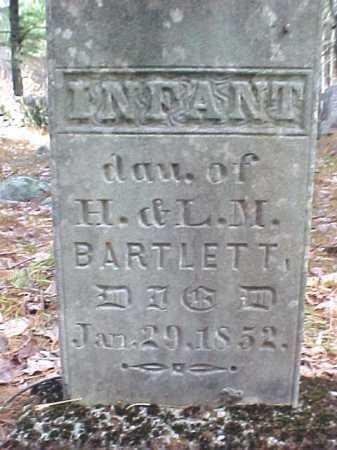 BARTLETT, INFANT - Warren County, New York | INFANT BARTLETT - New York Gravestone Photos