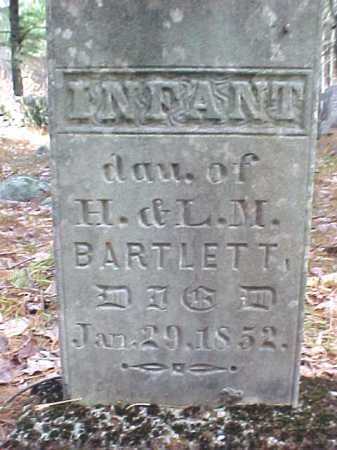 BARTLETT, INFANT - Warren County, New York | INFANT BARTLETT - New York Gravestone Photos