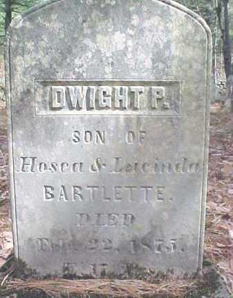 BARTLETTE, DWIGHT P. - Warren County, New York   DWIGHT P. BARTLETTE - New York Gravestone Photos